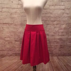 Ann Taylor Red pleated gros grain holiday Pockets